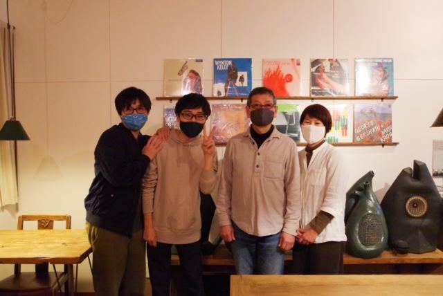 レコードカフェ月季の店主と撮影