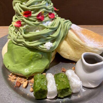 狭山茶のパンケーキ